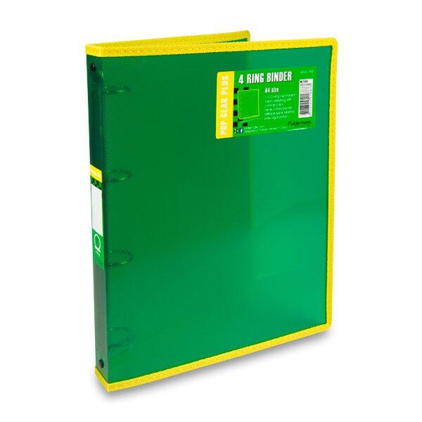 4kroužkový pořadač FolderMate Pop Gear Plus zelený