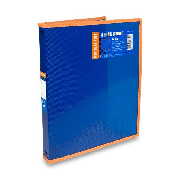4kroužkový pořadač FolderMate Pop Gear Plus modrý