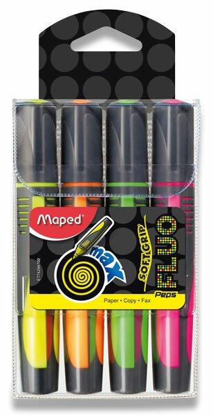 Zvýrazňovač Maped Fluo Peps Max sada 4 barev