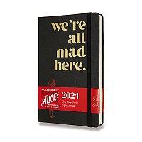 Diář Moleskine 2021 Alice In Wonderland - tvrdé desky