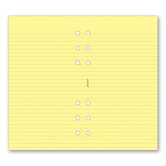 Obrázek produktu Poznámkový papír, linkovaný, žlutý - náplň osobních diářů Filofax