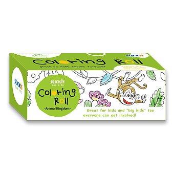 Obrázek produktu Samolepicí omalovánky mini v roli s pastelkou - motiv Zvířátka