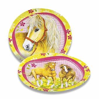 Obrázek produktu Papírové talířky Charming Horses - průměr 23 cm, 8 ks