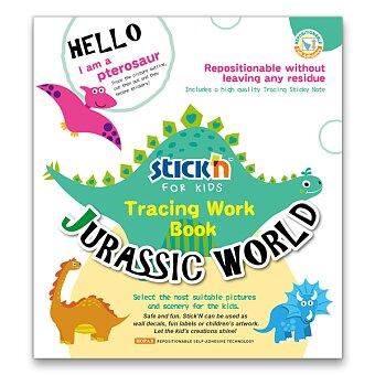 Obrázek produktu Samolepicí omalovánky pro děti v kreativním setu - motiv Jurský park