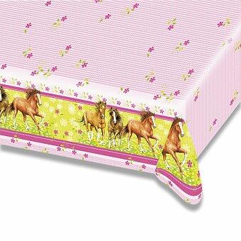Obrázek produktu Plastový ubrus Charming Horses - 120×180 cm
