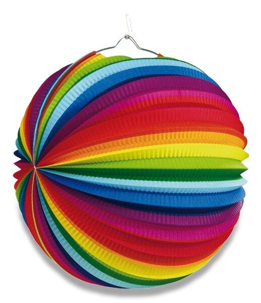 Papírový lampion Rainbow průměr 50 cm Amscan