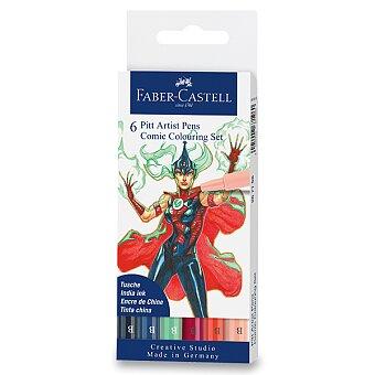 Obrázek produktu Popisovač Faber-Castell Pitt Artist Pen Comic - mix barev, 6 ks