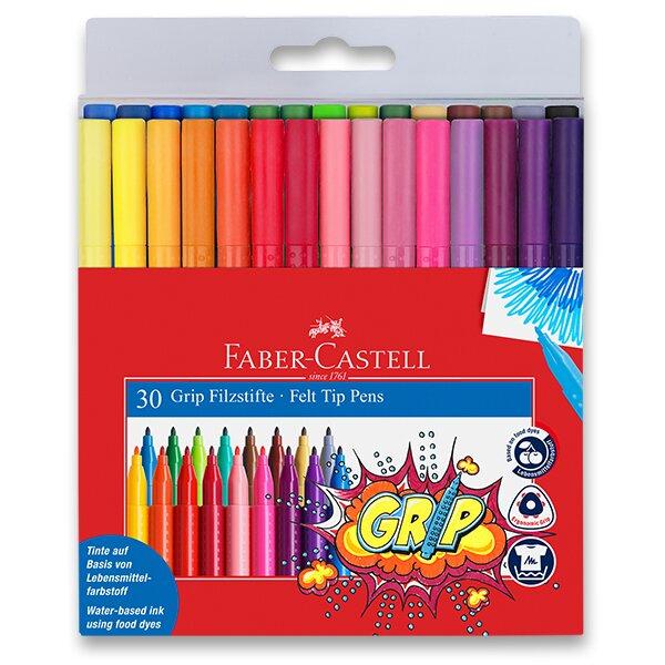 Dětské fixy Faber-Castell Grip 30 barev