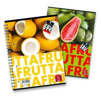 Obrázek produktu Kroužkový blok Pigna Fruits - A4, linkovaný, 80 listů, mix motivů