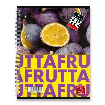 Obrázek produktu Kroužkový blok Pigna Fruits - A5, linkovaný, 80 listů, mix motivů