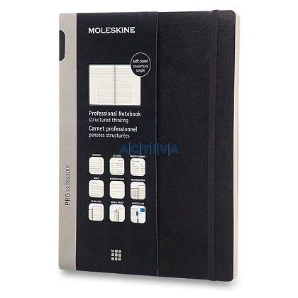 Obrázek produktu Moleskine Professional - zápisník v měkkých deskách - vel. XL, 19 × 25 cm, černý