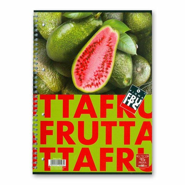 Kroužkový blok Pigna Fruits A4, linkovaný, 80 listů, mix motivů