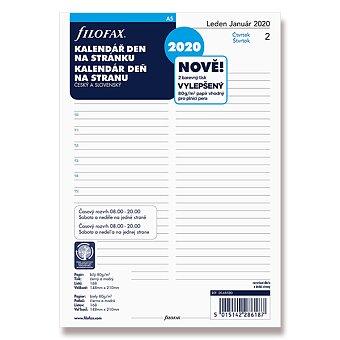 Obrázek produktu Denní kalendář 2020 - náplň k diářům Filofax A5