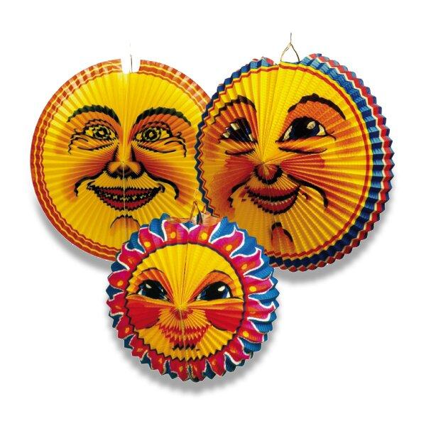 Papírový lampion Sun & Moon průměr 36-42 cm, mix motivů