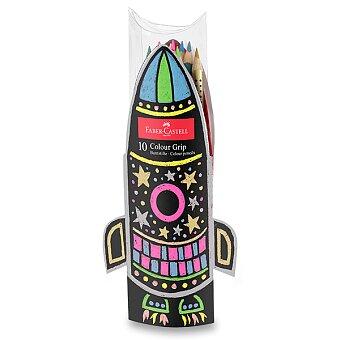 Obrázek produktu Pastelky Faber-Castell Grip 2001 - dárková sada raketa, 10 barev