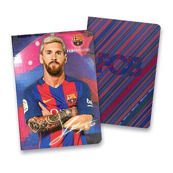 Obrázek produktu Školní sešit 544 FCB Barcelona - A5, linkovaný, 40 listů, mix motivů