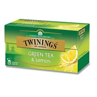 Obrázek produktu Zelený čaj Twinings s citronem - 25 sáčků