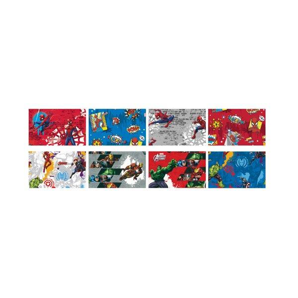 Dárkový balicí papír Spiderman / Avengers 2 x 0,7 m, mix motivů