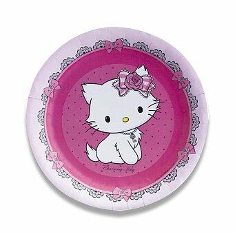 Obrázek produktu Papírové talířky Charmmy Kitty - průměr 23 cm, 8 ks