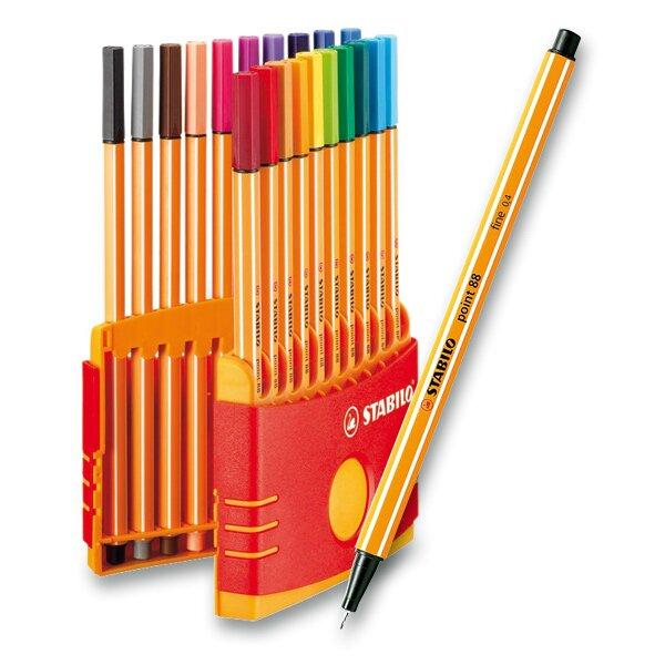 Liner Stabilo Point 88 sada 20 barev  v praktickém pouzdře