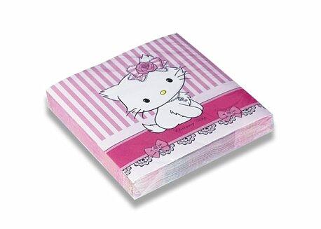 Obrázek produktu Papírové ubrousky Charmmy Kitty - 33×33 cm, 20 ks