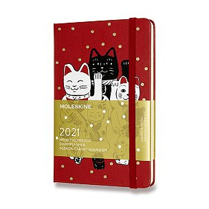 Diář Moleskine 2021 Maneki Neko - tvrdé desky