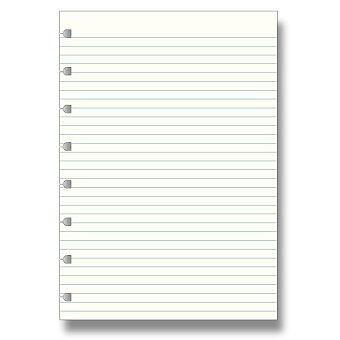 Obrázek produktu Linkovaný papír - náplň zápisníků A5 Filofax Notebook