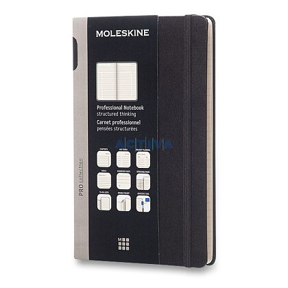 Obrázok produktu Moleskine Professional - zápisník v tvrdých doskách - 13 x 21 cm, čierny