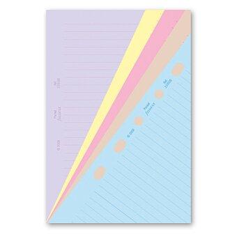 Obrázek produktu Poznámkový papír, linkovaný, 5 barev - náplň kapesních diářů Filofax