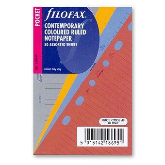 Obrázek produktu Poznámkový papír, linkovaný, 4 barvy - náplň kapesních diářů Filofax