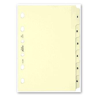 Obrázek produktu Krajové výřezy, 1-6 - náplň kapesních diářů Filofax