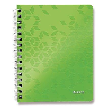 Obrázek produktu Leitz WOW - kroužkový blok - A5, 80 listů, linka, zelený