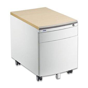 Obrázek produktu Pojízdný kontejner pro stoly Profi 3 a Junior - bílý korpus, sedací plocha javor nebo bílá