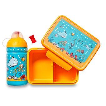 Obrázek produktu Set Zdravá lahev a Zdravá sváča - Mořský svět