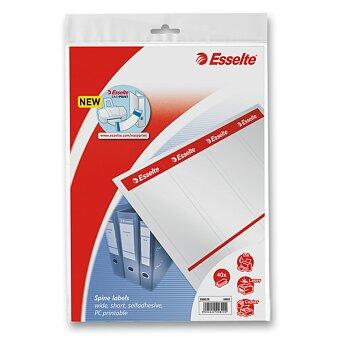 Obrázek produktu Samolepicí štítky na pořadače Esselte Easy Print - 59 mm x 192 mm, 40 ks