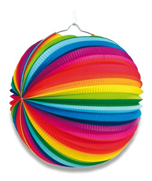 Papírový lampion Rainbow průměr 25 cm