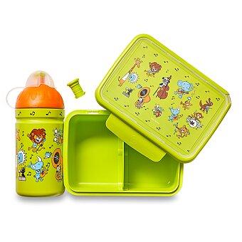 Obrázek produktu Set Zdravá lahev 0,5 l a Zdravá sváča - ZOO kapela