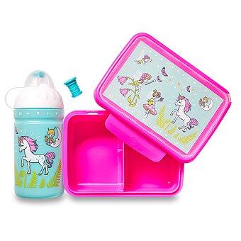 Obrázek produktu Set Zdravá lahev a Zdravá sváča - Jednorožec a víla