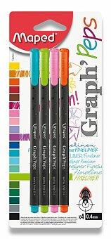 Obrázek produktu Liner Maped Graph'Peps - sada 4 pastelových barev