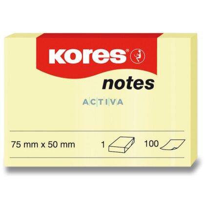 Obrázek produktu Kores - samolepicí bloček - 75×50 mm, 100 l.