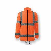REFLEX FLEECE - unisex fleecová bunda s reflexními pruhy, vel. XL, výběr barev