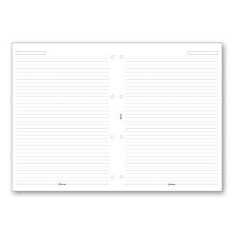 Obrázek produktu Poznámkový papír, linkovaný - náplň A4 k diářům Filofax