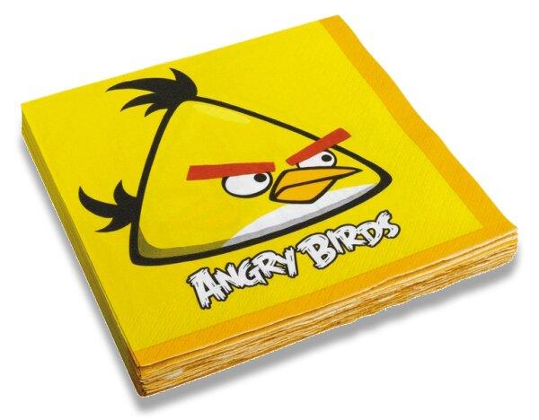 Papírové ubrousky Angry Birds 33 x 33 cm, 20 ks