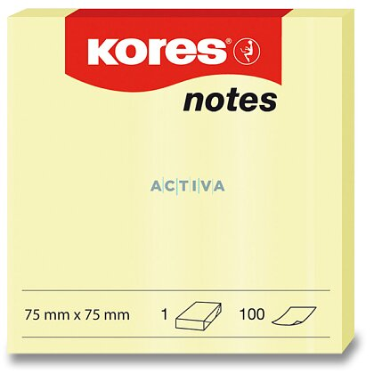 Obrázok produktu Kores - samolepiaci bloček - 75 x 75 mm, 100l.