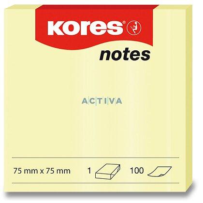 Obrázek produktu Kores - samolepicí bloček - 75×75 mm, 100 l.