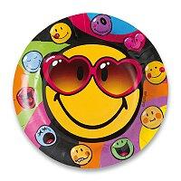 Papírové talířky Smiley