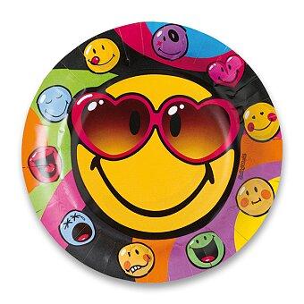 Obrázek produktu Papírové talířky Smiley - průměr 23 cm, 8 ks