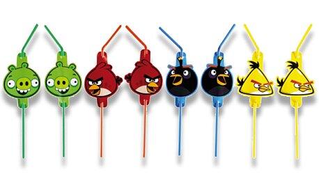 Obrázek produktu Brčka Angry Birds - mix motivů - 8 ks