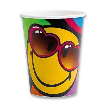 Obrázek produktu Papírové kelímky Smiley - objem 0,25 l, 8 ks