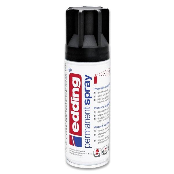 Akrylový sprej Edding 5200 černá matná 901
